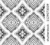 tie dye shibori print. seamless ... | Shutterstock . vector #1129073039