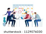 company business team working... | Shutterstock .eps vector #1129076030