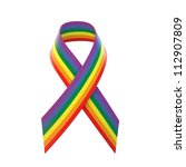 gay pride awareness ribbon | Shutterstock . vector #112907809
