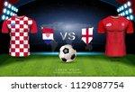 football cup 2018 world... | Shutterstock .eps vector #1129087754