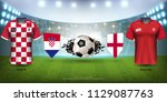 football cup 2018 world... | Shutterstock .eps vector #1129087763