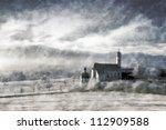 Winter Landscape  Vintage Oil...