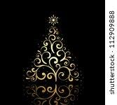 vector new year tree  ... | Shutterstock .eps vector #112909888