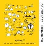 hand drawn food ingredients  ...   Shutterstock .eps vector #1129101470