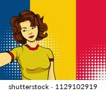 asian woman taking selfie photo ... | Shutterstock . vector #1129102919