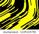 black and yellow wavy... | Shutterstock .eps vector #1129115750