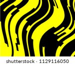 black and yellow wavy... | Shutterstock . vector #1129116050