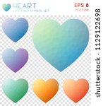 heart geometric polygonal icons ... | Shutterstock .eps vector #1129122698