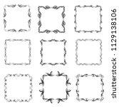 set of vector vintage frames on ... | Shutterstock .eps vector #1129138106