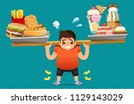physical problems of obesity.... | Shutterstock .eps vector #1129143029