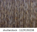dry reeds or bamboo set as a... | Shutterstock . vector #1129150238