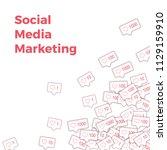 social media icons. social... | Shutterstock .eps vector #1129159910