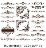 vintage ornaments design... | Shutterstock .eps vector #1129164476