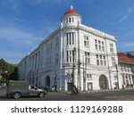 Small photo of JAKARTA, INDONESIA - July 7, 2018: A Dutch Colonial old building on Kali Besar, Kota Tua.