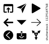 set of 9 arrows filled icons...   Shutterstock .eps vector #1129169768