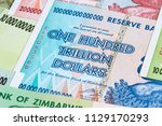 banknotes of zimbabwe after... | Shutterstock . vector #1129170293