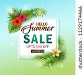 vector illustration of summer... | Shutterstock .eps vector #1129174466
