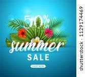 vector illustration of summer... | Shutterstock .eps vector #1129174469