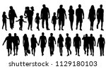isolated  silhouette people go ... | Shutterstock .eps vector #1129180103