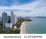 aerial view of buildings on the ... | Shutterstock . vector #1129180940