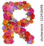 R  Flower Alphabet Isolated On...