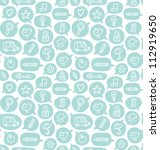 seamless pattern with speech... | Shutterstock .eps vector #112919650