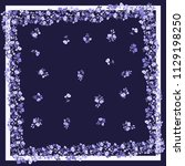 unusual scarf floral print....   Shutterstock . vector #1129198250