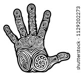 a hand abstract pattern concept ... | Shutterstock . vector #1129202273