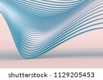 abstract 3d rendering of smooth ... | Shutterstock . vector #1129205453