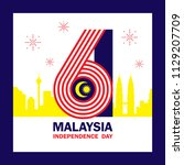 31 august   malaysia... | Shutterstock .eps vector #1129207709