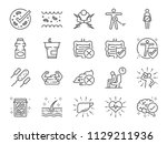 probiotics set. included icons... | Shutterstock .eps vector #1129211936