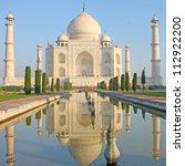 taj mahal   a famous historical ... | Shutterstock . vector #112922200