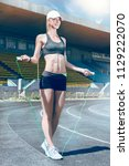 young fitness muscle sporty...   Shutterstock . vector #1129222070