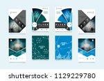 abstract vector business... | Shutterstock .eps vector #1129229780