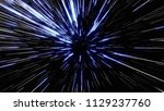 particle or space traveling.... | Shutterstock . vector #1129237760