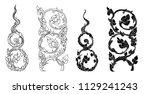 line thai vector set.line thai... | Shutterstock .eps vector #1129241243