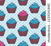hand drawn seamless pattern... | Shutterstock .eps vector #1129241840