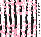 pink glitter dots confetti on... | Shutterstock .eps vector #1129242476