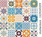 portugal seamless pattern.... | Shutterstock .eps vector #1129245299