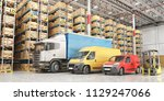 transport for delivery on a... | Shutterstock . vector #1129247066