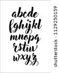 alphabet letter set. vector... | Shutterstock .eps vector #1129250159