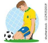 illustration of soccer player... | Shutterstock .eps vector #1129252019