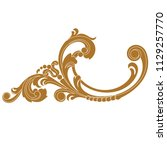 golden vintage baroque ornament ... | Shutterstock .eps vector #1129257770