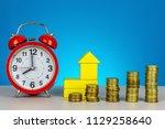 saving for future. saving for... | Shutterstock . vector #1129258640