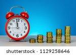 saving for future. saving time... | Shutterstock . vector #1129258646