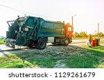 utilization of garbage in the...   Shutterstock . vector #1129261679