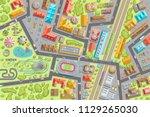 vector illustration. city view...   Shutterstock .eps vector #1129265030