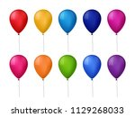 collection of realistic... | Shutterstock . vector #1129268033