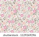 cute small flower pattern on...   Shutterstock .eps vector #1129269296