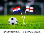 croatia and england national...   Shutterstock . vector #1129272536